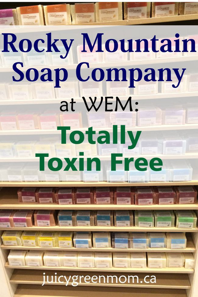 Rocky Mountain Soap Company at WEM Totally Toxin Free juicygreenmom