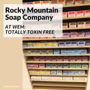Rocky Mountain Soap Company at WEM totally toxin free juicygreenmom