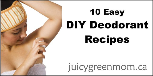 DIY deodorant recipes juicygreenmom landscape