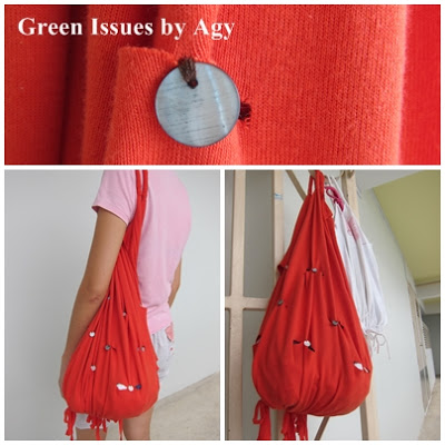 green issues by agy upcycled shirt to bag