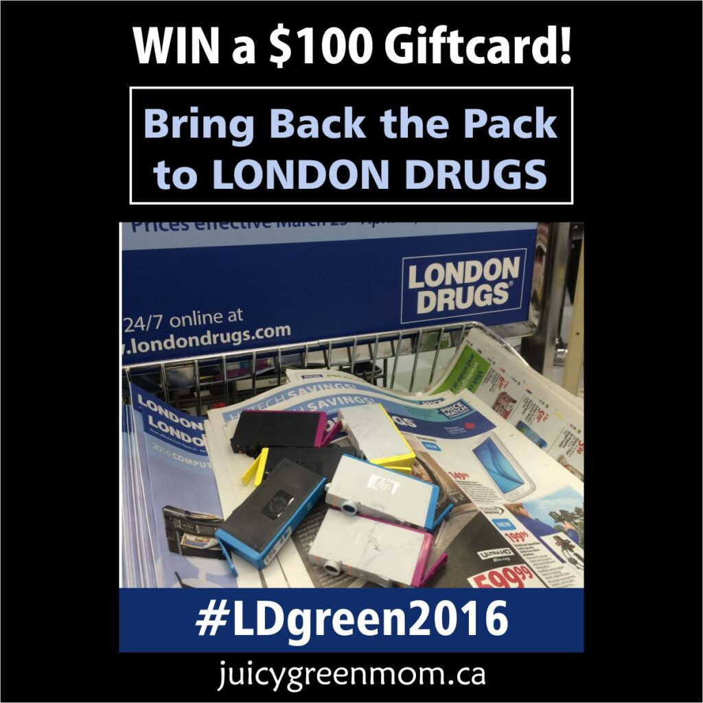 bring back the pack to London Drugs and Win a Giftcard juicygreenmom square