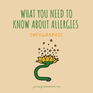 What You Need to Know About Allergies Infographic juicygreenmom