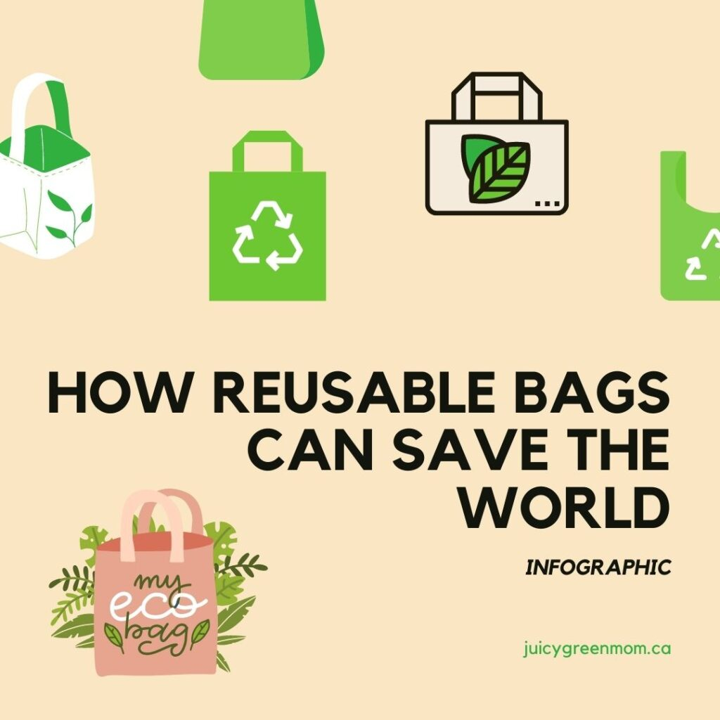 How Reusable Bags Can Save the World INFOGRAPHIC juicygreenmom
