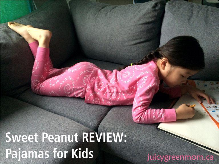 sweet peanut review pajamas for kids pink pjs juicygreenmom