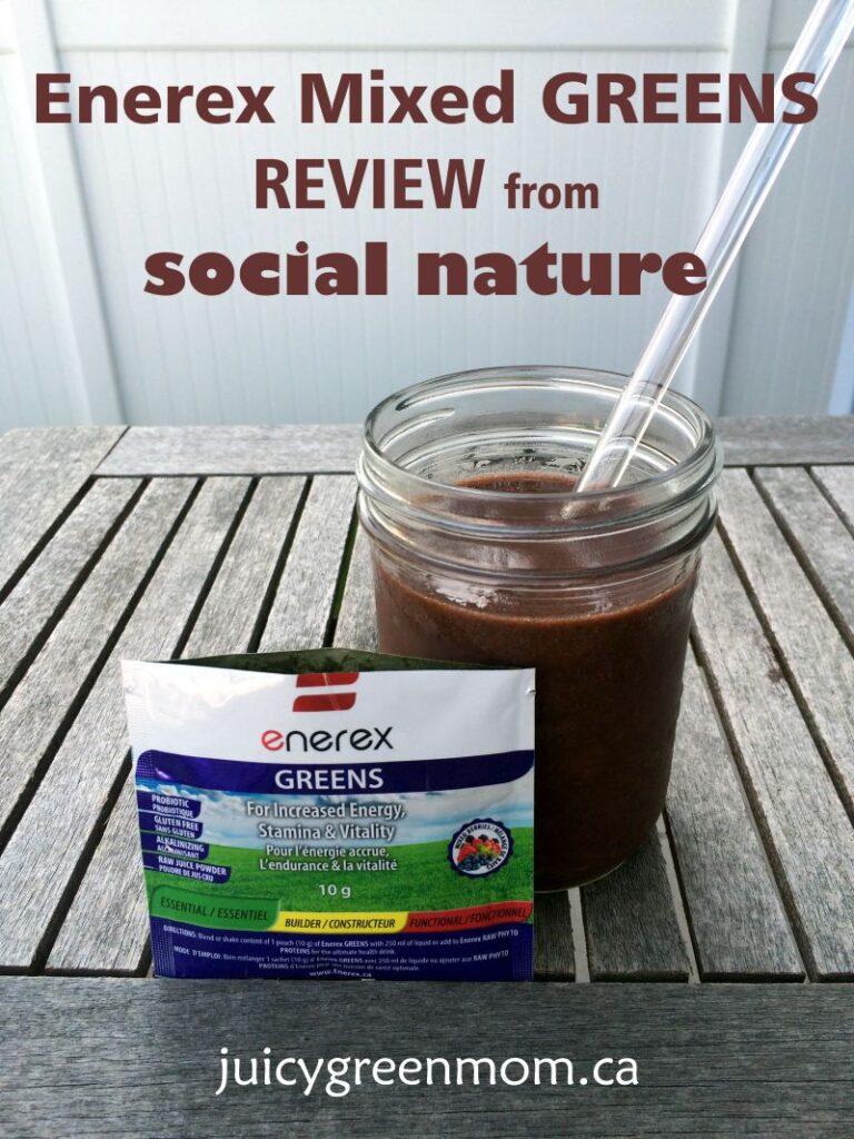 enerex mixed greens review from social nature juicygreenmom