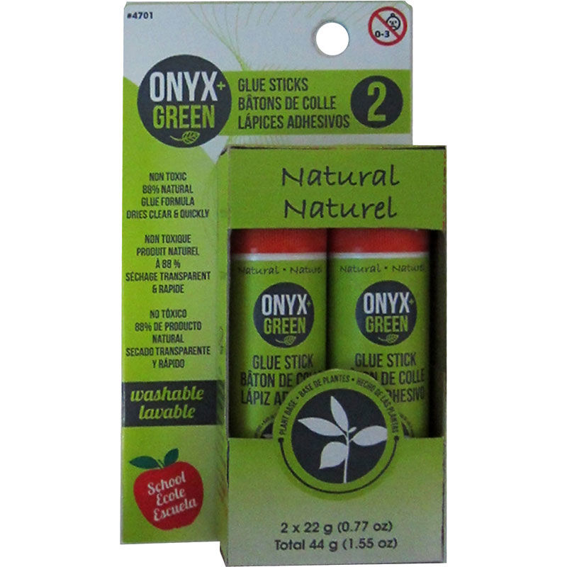 onyx green natural glue sticks