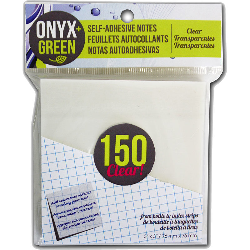 onyx clear sticky notes