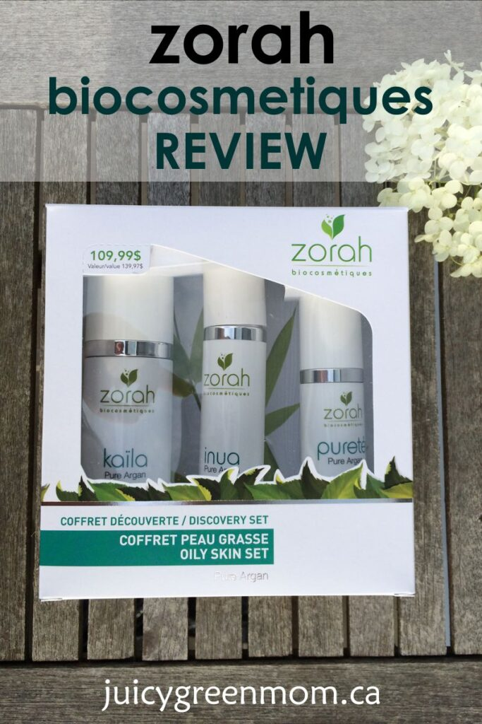zorah biocosmetiques review oily skin set juicygreenmom