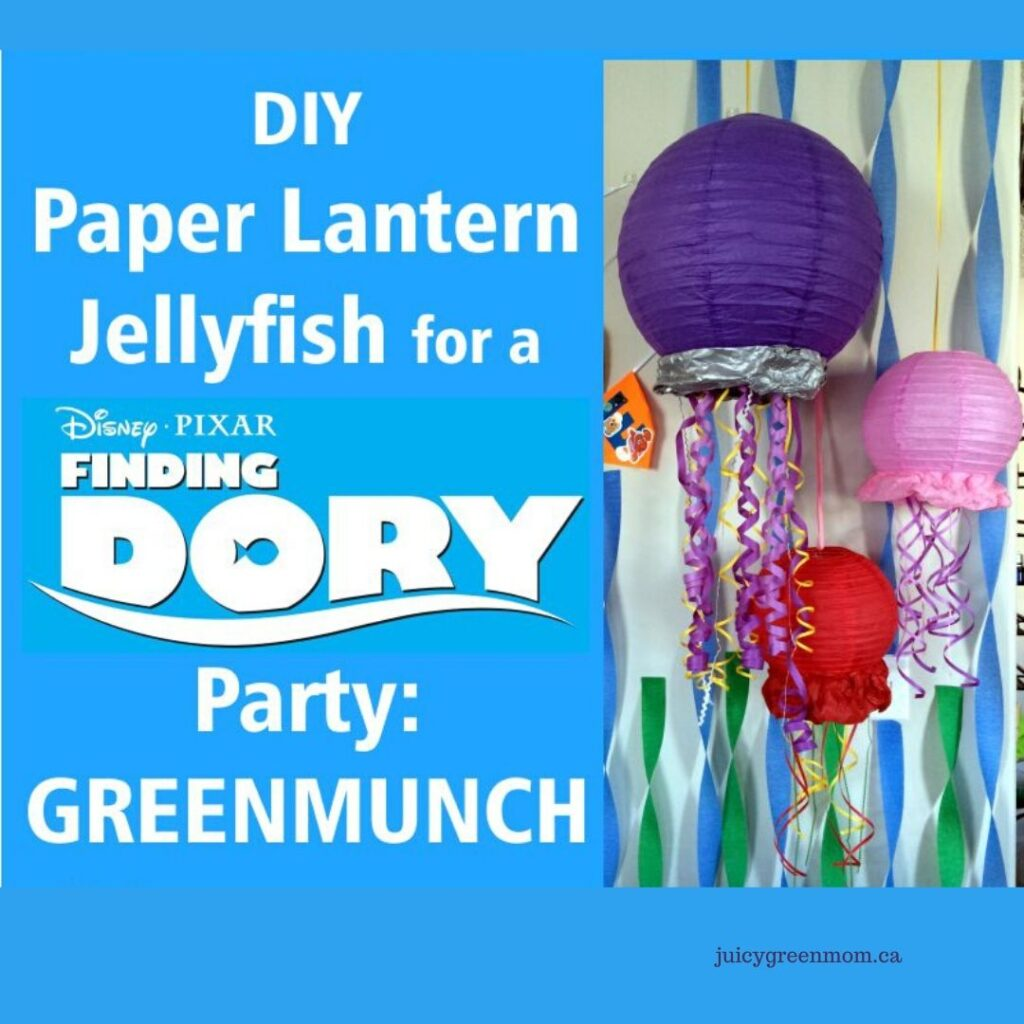 diy paper lantern jellyfish for a finding dory party greenmunch juicygreenmom