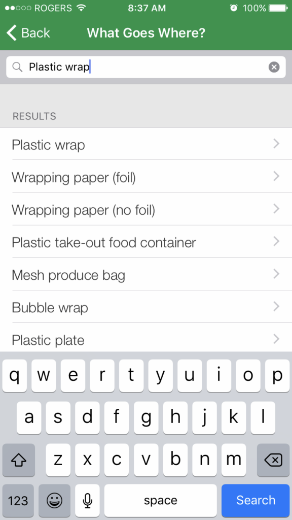 what goes where wastewise app juicygreenmom