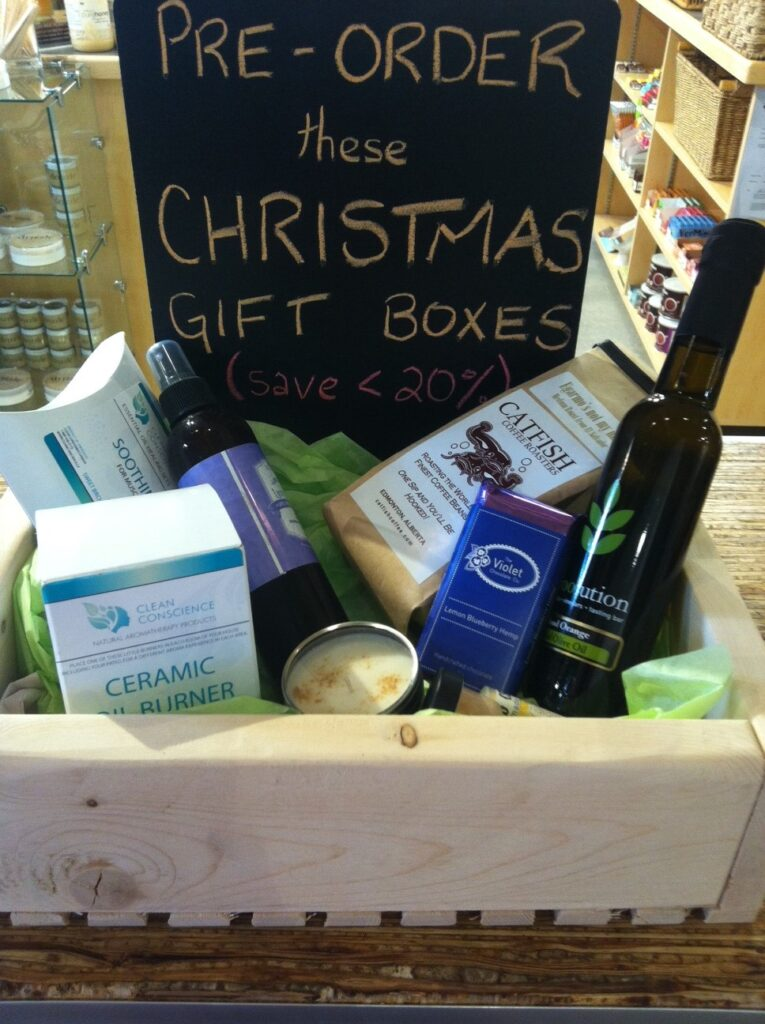 Christmas curated gift boxes carbon environmental boutique