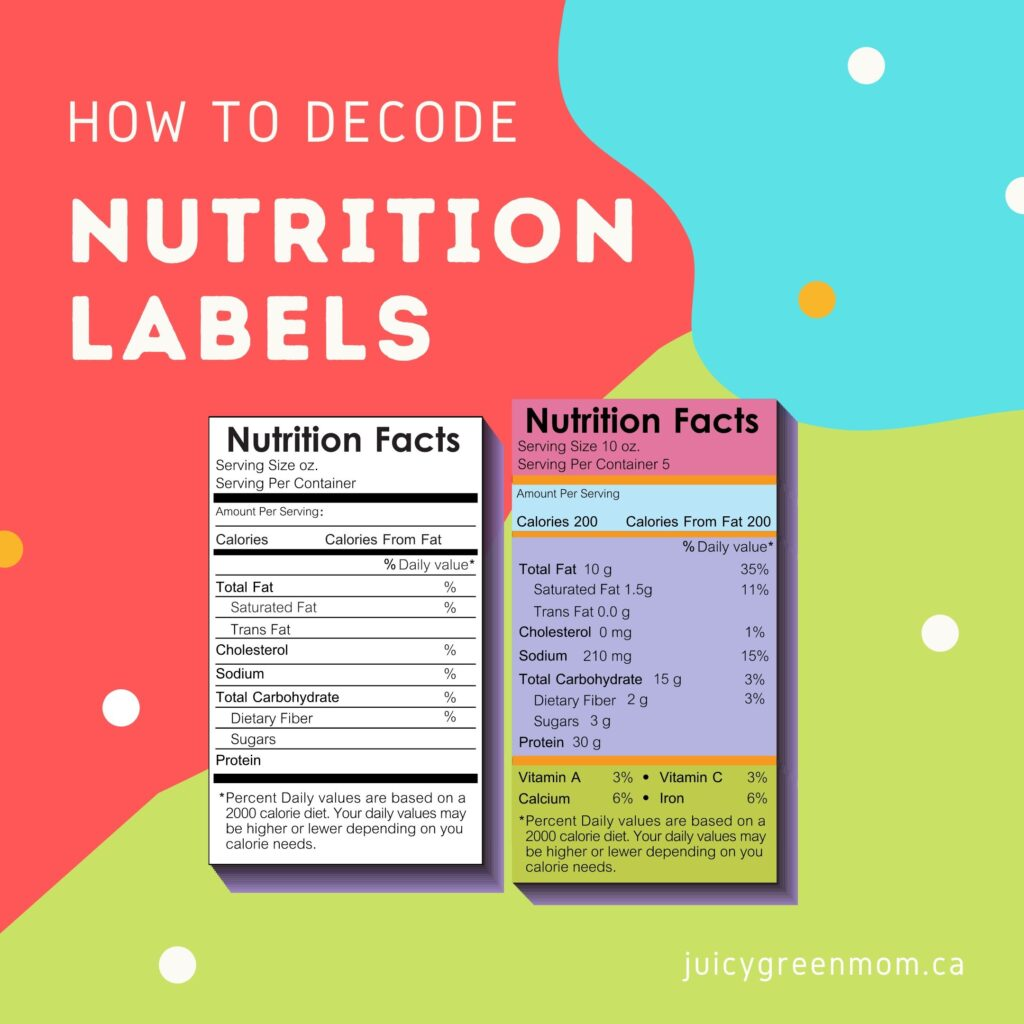 how to decode nutrition labels juicygreenmom