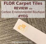 FLOR carpet tiles review via carbon environmental boutique YEG juicygreenmom