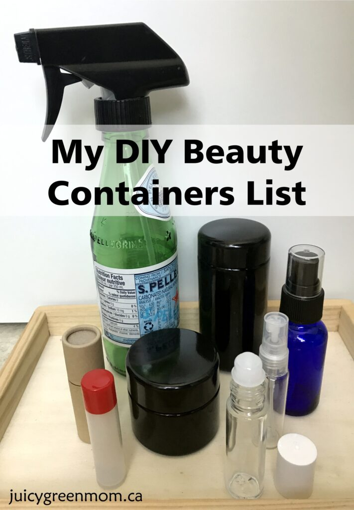 my diy beauty containers list juicygreenmom