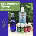 DIY Outdoor Spray with essential oils juicygreenmom