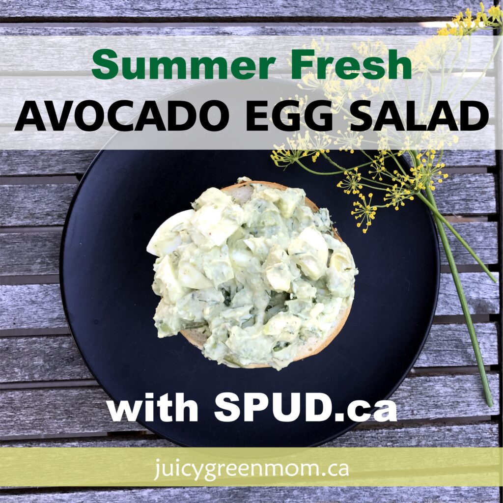 summer fresh avocado egg salad spud juicygreenmom