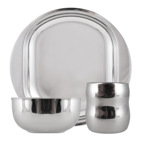 Stainless Steel Life Without Plastic Dish Set