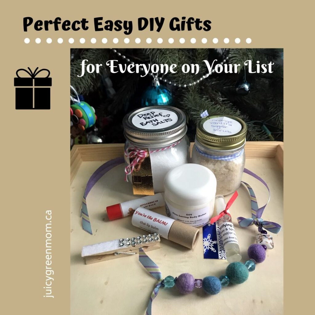 Perfect Easy DIY Gifts for Everyone on Your List juicygreenmom
