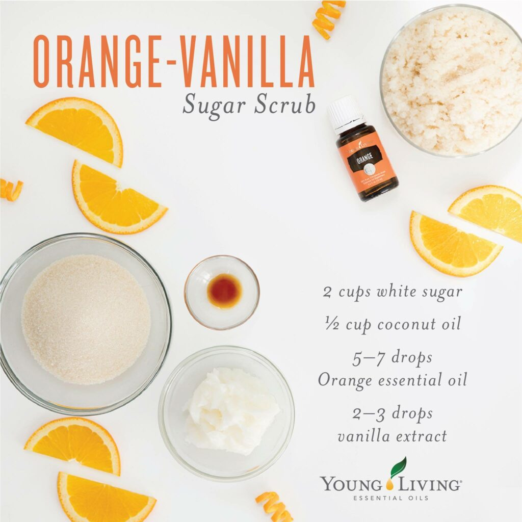 DIY orange vanilla sugar scrub young living