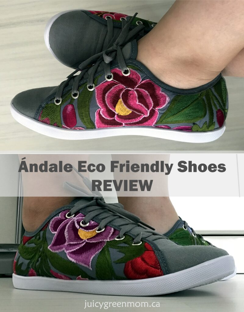 andale eco friendly shoes review wearing shoes juicygreenmom