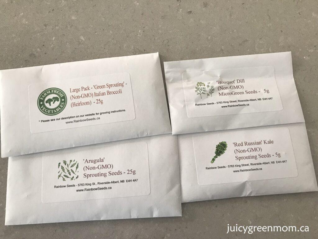 ecoqube frame growing microgreens seeds juicygreenmom