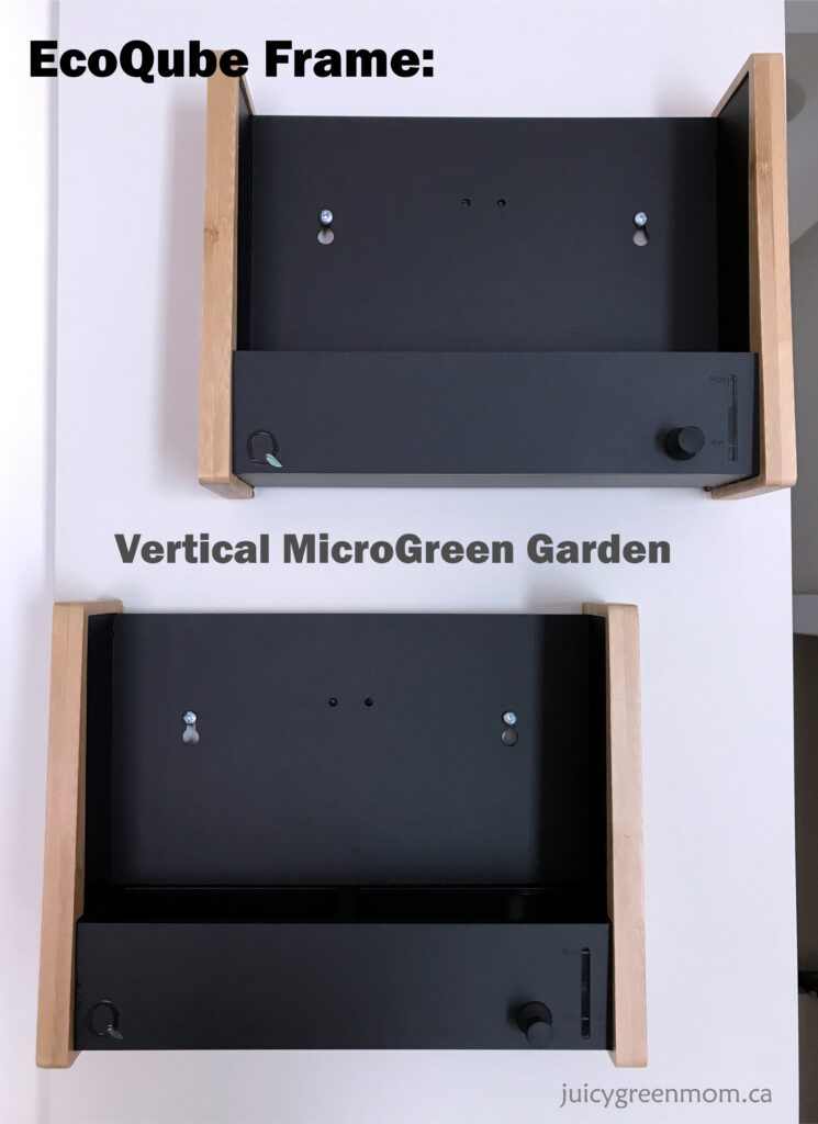 ecoqube frame vertical microgreens garden mounted on wall juicygreenmom