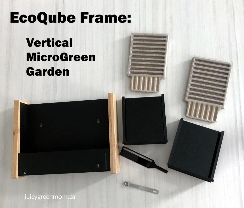 ecoqube frame vertical microgreens garden unboxed juicygreenmom