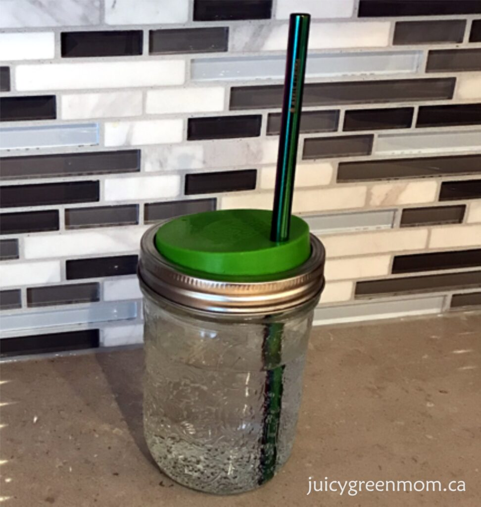 project straw with mason jar juicygreenmom