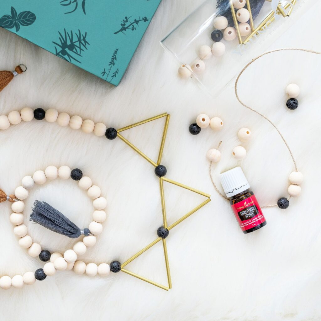 young living christmas spirit diy diffuser garland