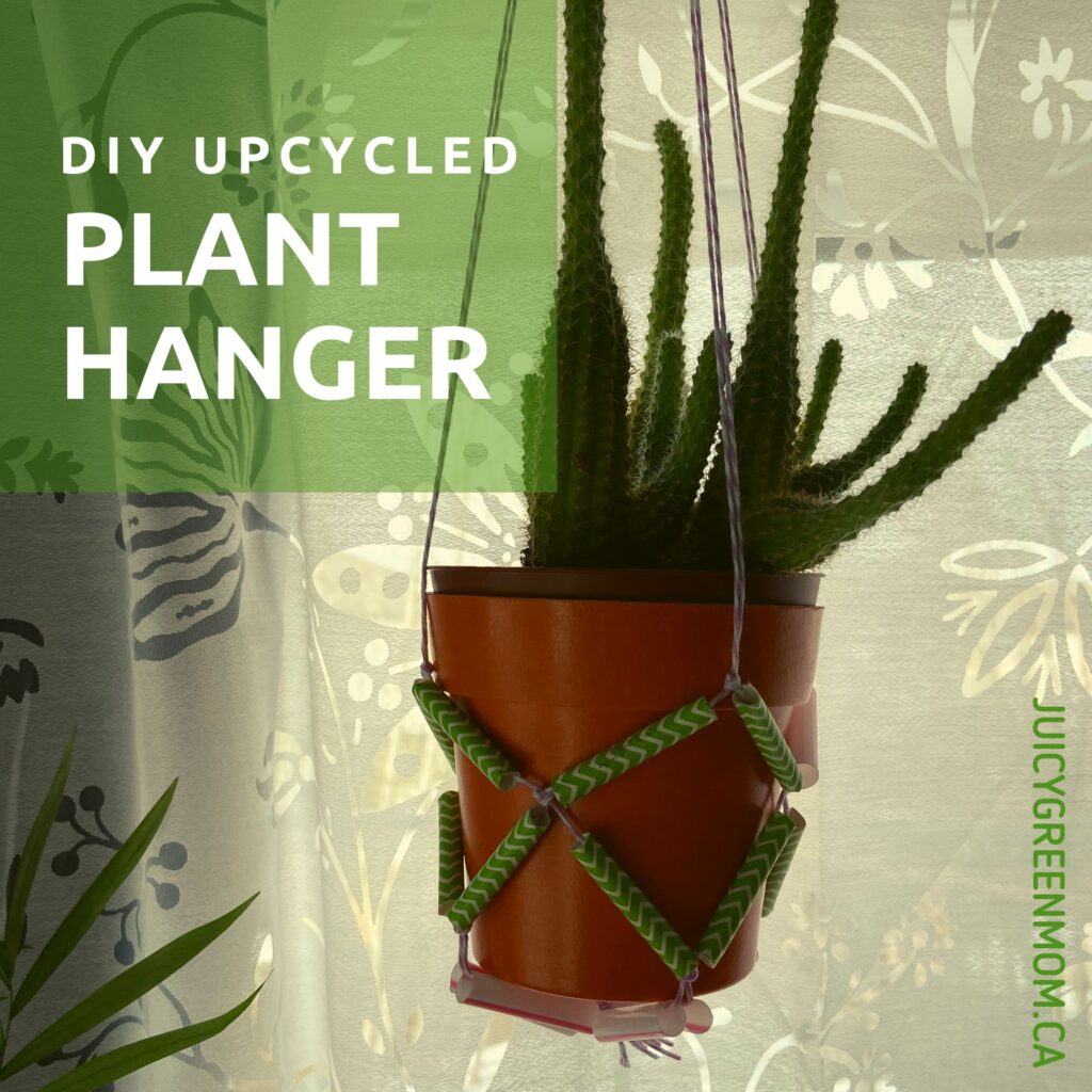 DIY upcycled plant hanger juicygreenmom