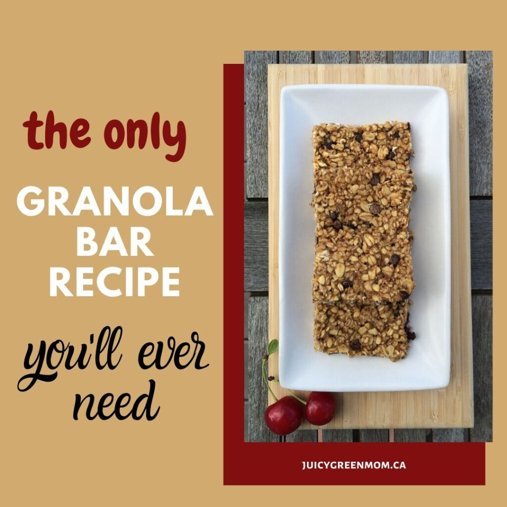 the only granola bar recipe you'll ever need juicygreenmom IG