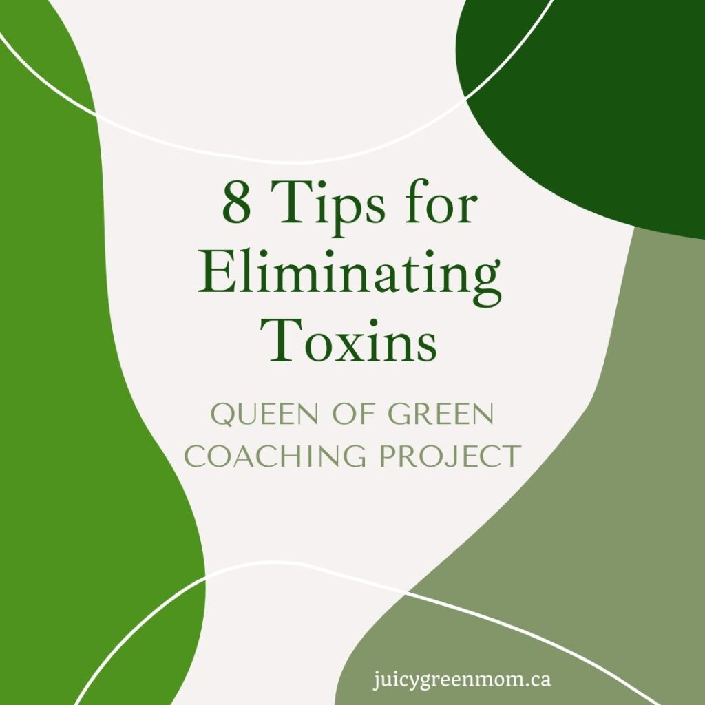 8 tips for eliminating toxins queen of green coaching project juicygreenmom