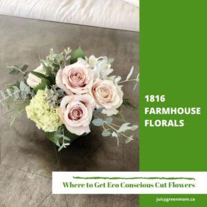 1816 farmhouse florals Eco Conscious Cut Flowers #YEG juicygreenmom
