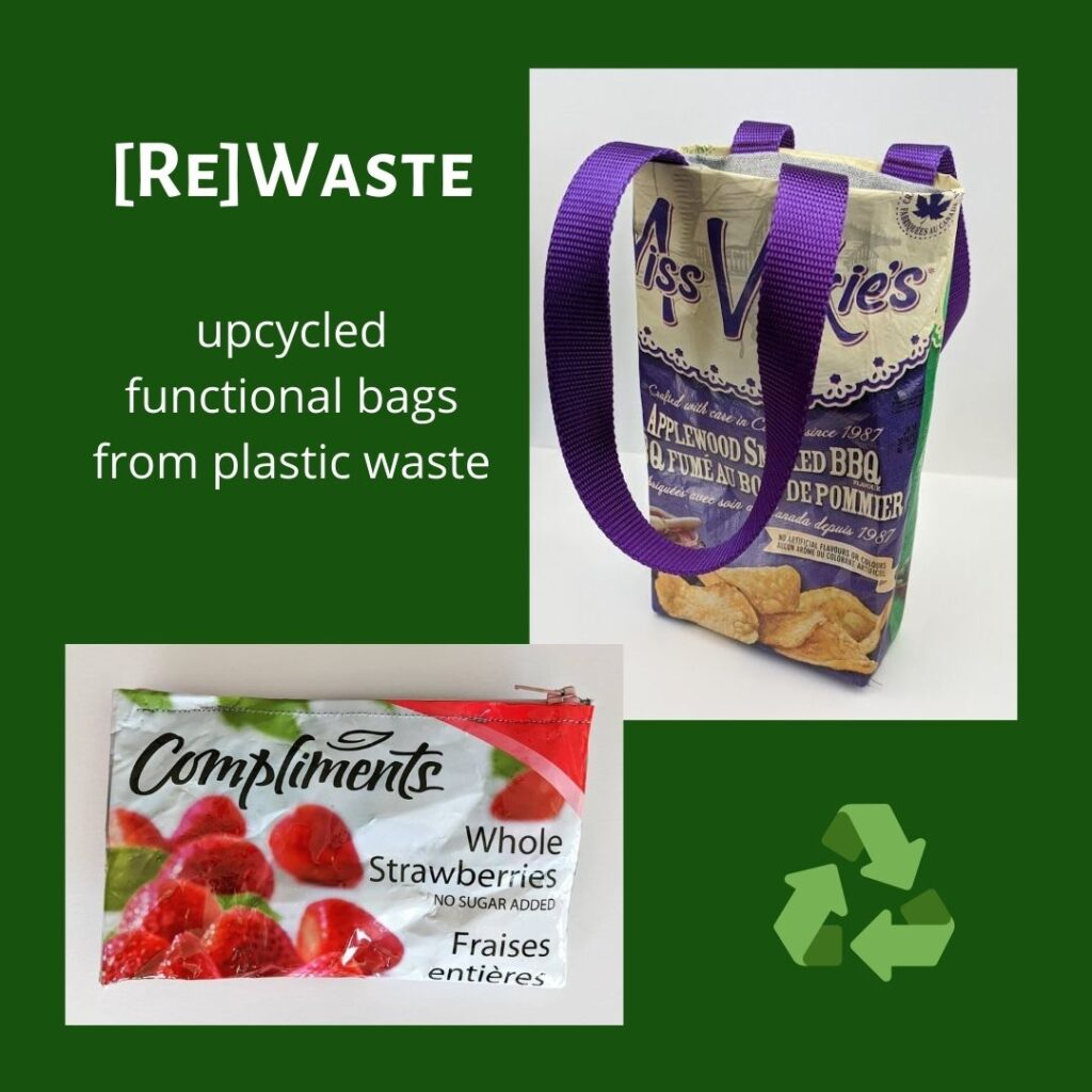 [Re]Waste upcycled bags from plastic waste juicygreenmom