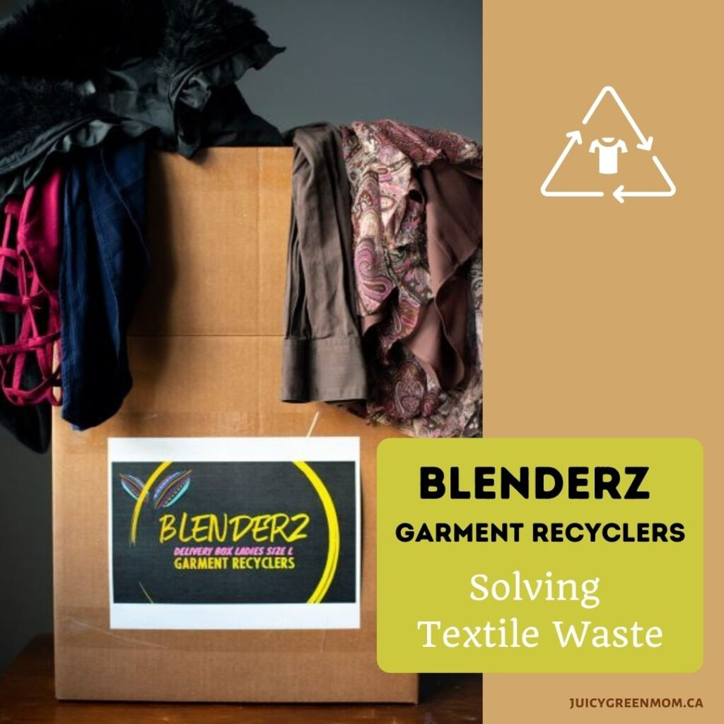 BLENDERZ GARMENT RECYCLERS Solving Textile Waste juicygreenmom delivery box