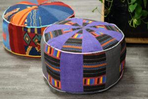 Blenderz garment recyclers floor pouf DIY