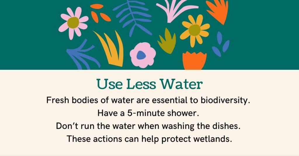 use less water biodiversity juicygreenmom