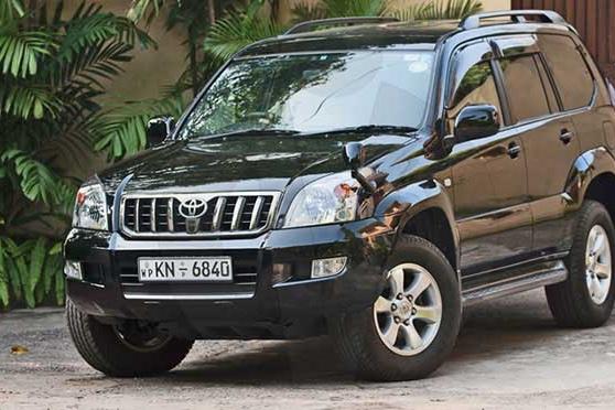 rent a car with driver sri lanka toyota prado
