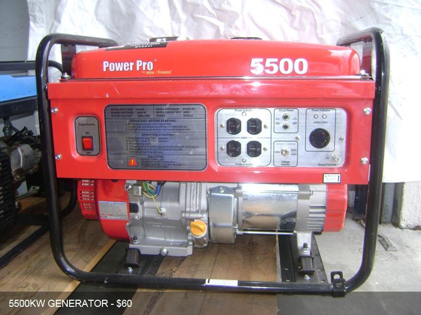 Professional Generator rental