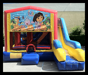 Bounce House and Slide 7 en 1 $190.00