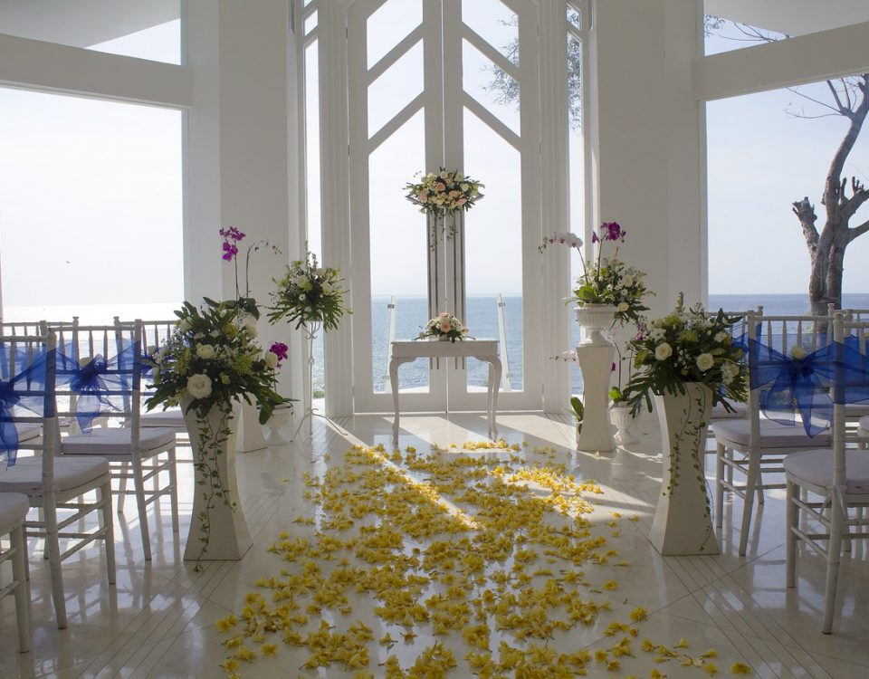 venue wedding aisle