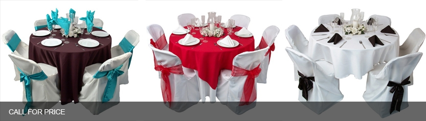 Set of decorated of tables and chairs