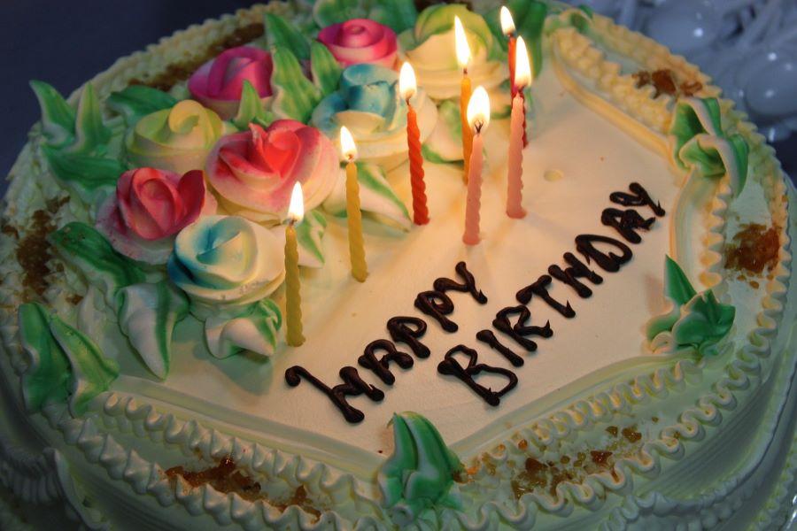 Happy birthday cake tradition