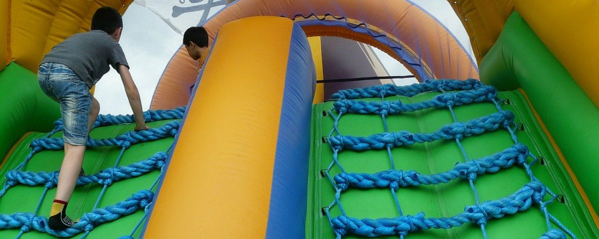 pirate ship inflatable course