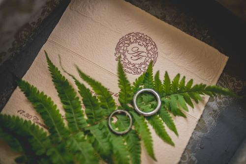 wedding invitations-two wedding rings