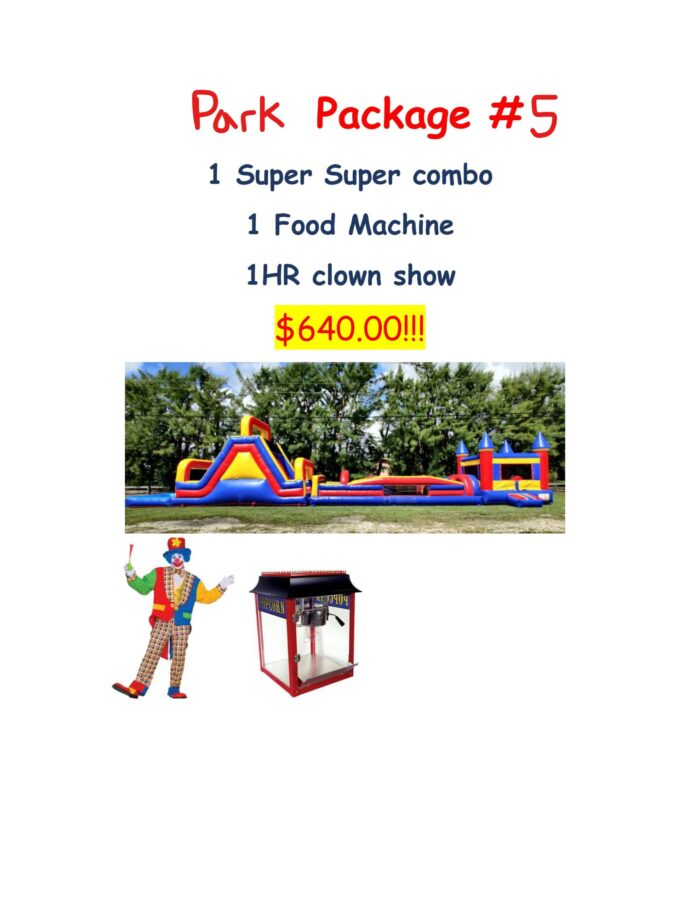 park party rental package #5