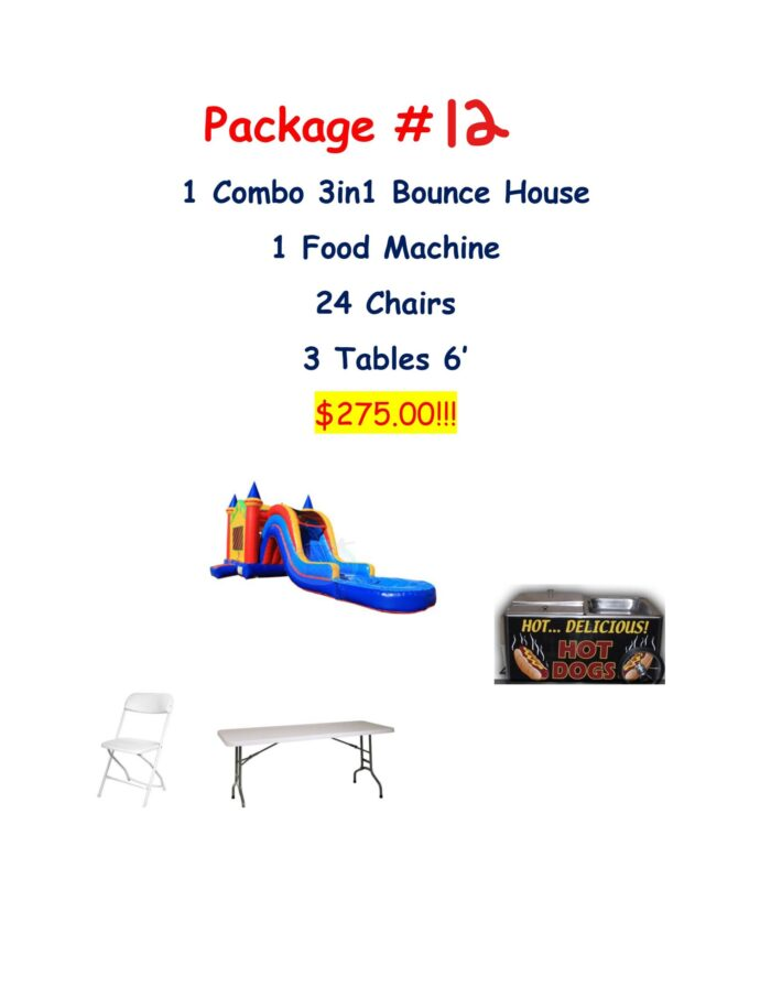 party rental package #12