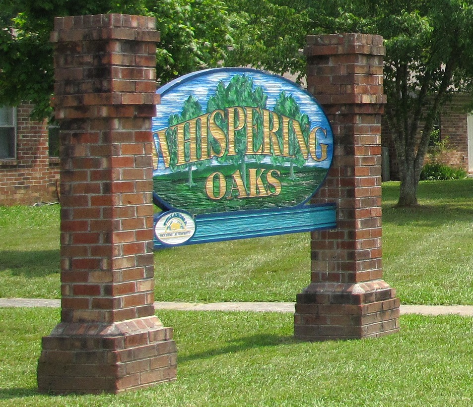 Whispering Oaks Property Sign