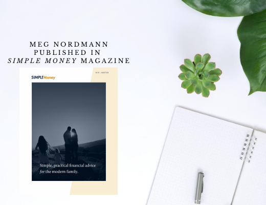 Meg Nordmann published in Joshua Becker Simple Money Magazine