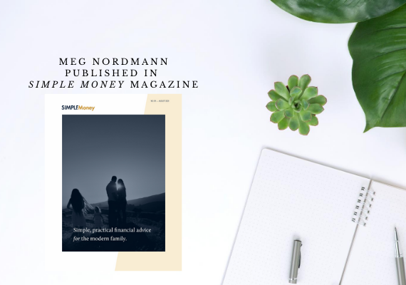 Meg Nordmann published in Joshua Becker Simple Money Magazine